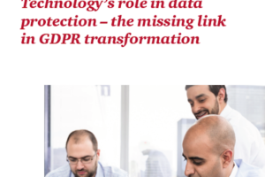 TECHNOLOGY'S ROLE IN GDPR